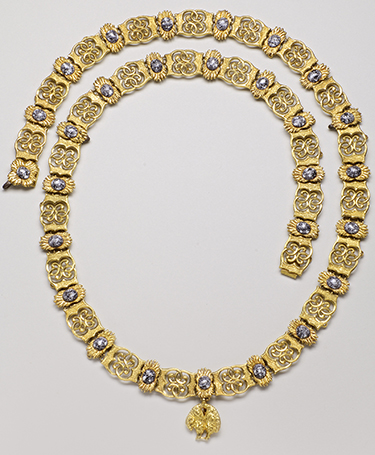 Collar of the Order of the Golden Fleece, Joao VI of Braganza (1767-1826), King of Portugal (1816-1826), 17th century – Gold and enamel