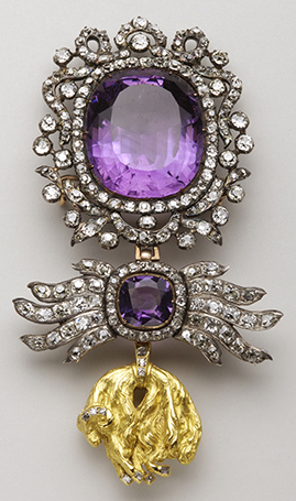 Insignia of the Order of the Golden Fleece of Prince Karl Anselm von Thurn und Taxis (1733-1805); knight of the Golden Fleece in 1775   End 18th century – Gold, silver, diamonds and amethyst