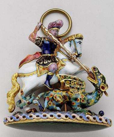 Grand Georges de l'ordre de la Jarretière - XVIIIe siècle - Or et émaux