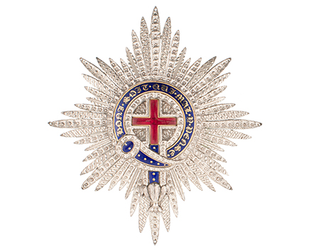 Star of the Most Noble Order of the Garter Beginning 19th century – Silver and enamel