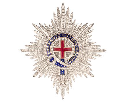 Plaque de l'ordre de la Jarretière - Début du XIXe siècle - Argent et émaux