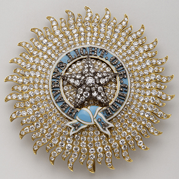 Badge of knight Grand Commander of the Most Exalted Order of the Star of India – Spink & Son, London – 2nd half of the 19th century – Gold, silver, diamonds and enamel
