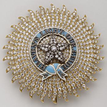 Plaque de chevalier grand commandeur de l'ordre de l'Etoile des Indes - Spink & Son, Londres - 2ème moitié du XIXe siècle - Or, argent, diamants et émaux