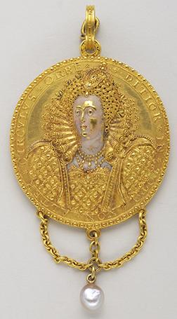 Danger Averted medal of 1589 of Elisabeth Ire - Fin du XVIe siècle - Or, émaux et perles baroques