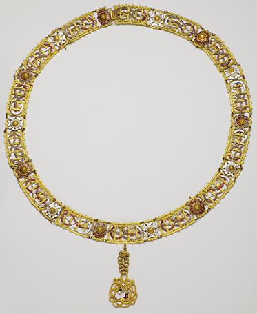 Grand collier de l'ordre de l'Annonciade - XVIIIe siècle (époque du royaume de Sardaigne) - Or et émaux