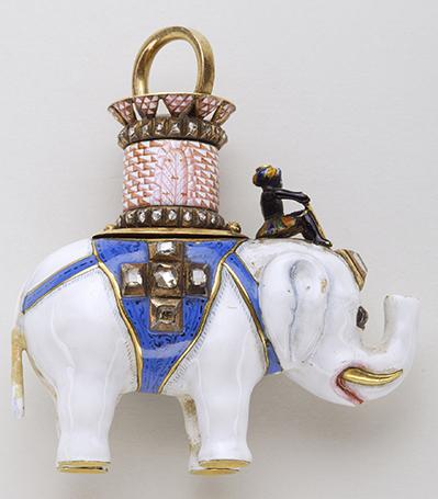 Pendentif de l'Eléphant - Or, diamants, émaux - Poinçon de l'office de Copenhague de 1904
