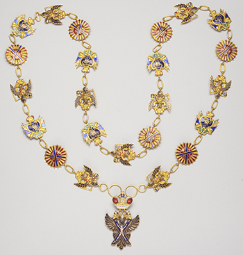 Collar of the Order of Saint Andrew – 1797 – Gold and enamel
