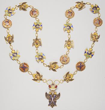 Collier de l'ordre de Saint-André - 1797 - Or et émaux