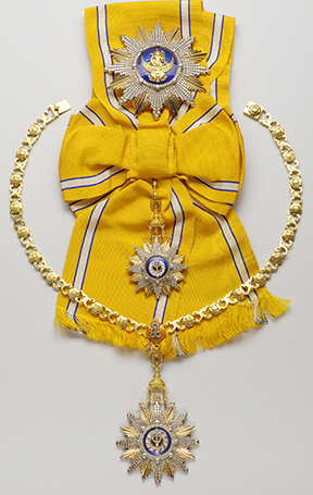 Order of Rajamitrabbhorn of Heinrich Lüke, President of the Federal Republic of Germany (1959-1969) Gold, silver, enamel and diamonds - 20th century