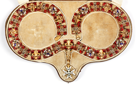 The Collar of the Order of the Holy Spirit of Miguel I of Portugal – Etienne Hippolyte Coudray (1761-1833) – Gold and enamel, 1823