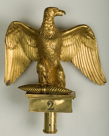 Flagpole « Eagle », 1804 model Antoine-Denis Chaudet, Pierre-Philippe Thomire – Gilded bronze