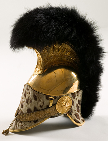 The helmet of the Duke de Berry, Colonel General of the Light Horse Lancers